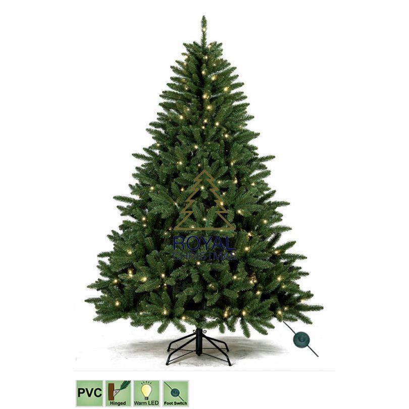 Sapin de Noël artificiel Washington Promo PVC Warm LED / DEL 180